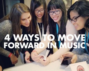 4 Ways to Move Forward in Music