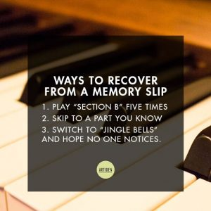 How to Recover from a Memory Slip